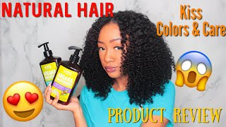Reviewing My First Ever Natural Hair PR Products!! Kiss Colors & Care