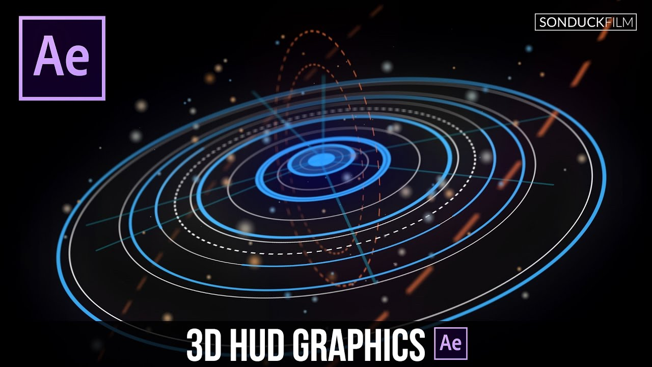 After Effects Tutorial: Advanced 3D HUD GFX Motion ...