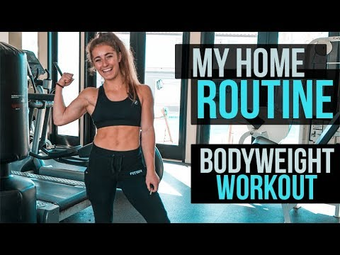 MY HOME ROUTINE | BODYWEIGHT WORKOUT DEMI BAGBY