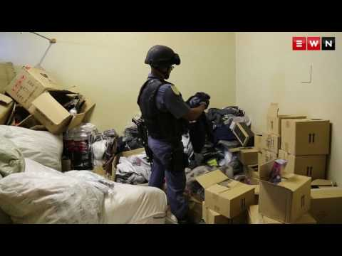 SANDF and Saps break down doors in Bellville, Cape Town
