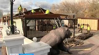 В Красноярске продолжается демонтаж незаконных летних кафе