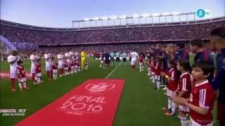 مباراة برشلونة واشبيلية 2-0 نهائي كاس الملك تعليق علي سعيد الكعبي جودة عالية22-05-2016