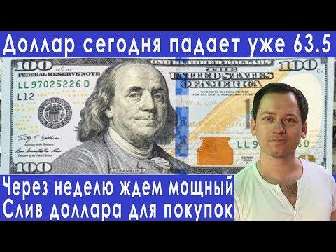 Курс доллара сегодня падает последние новости прогноз курса доллара евро рубля валюты на август 2019