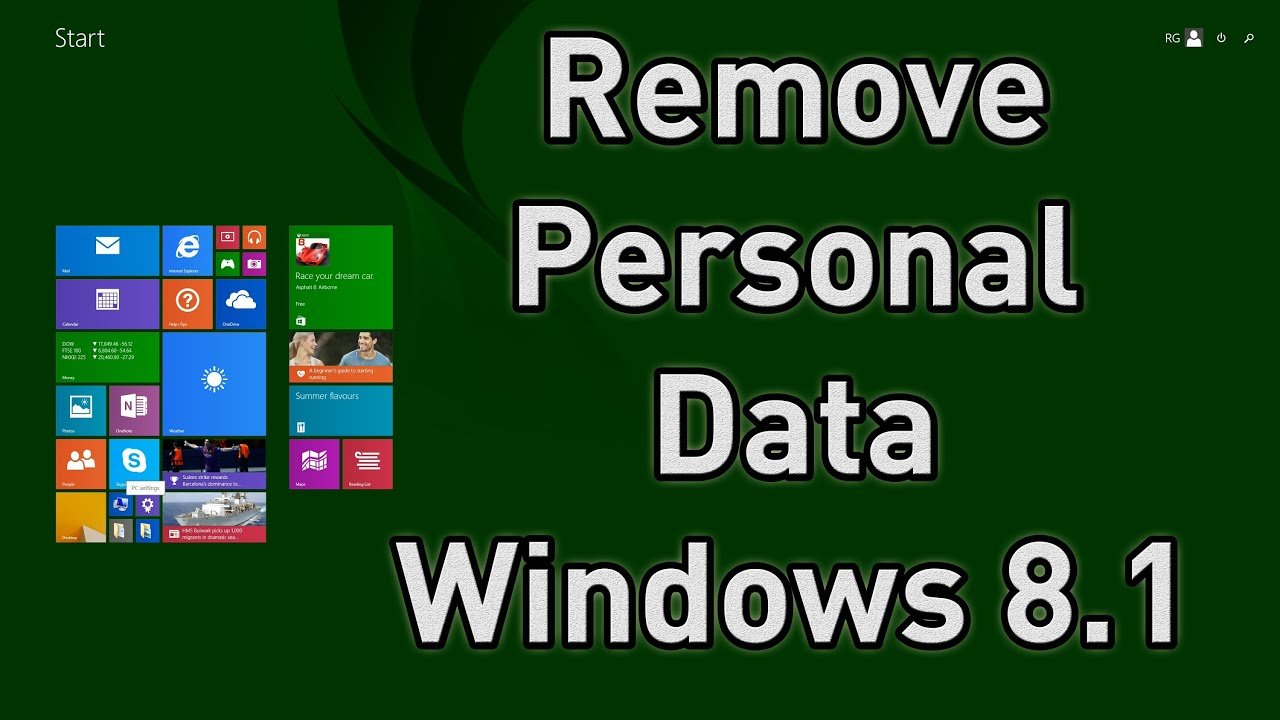 How to Clear All Personal Data & Details from PC or Laptop before Re-Sale  [Windows 8 1]