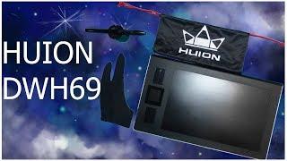распаковочка  обзор графического планшета HUION DWH69