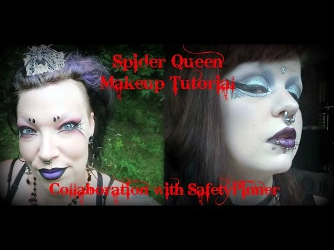 Spider Queen Makeup Turtorial: A Collaboration w/ SafetyPinner! | Astrid Aesthetic