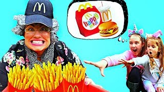 Ruby Pretend Play Ordering McDonald's Happy Meal
