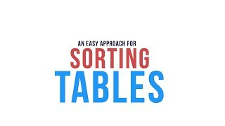 An Easy Approach to Sort HTML Tables with Javascript