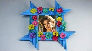 Make Awesome Photo Frame Out Of Paper Sticks   Diy-Paper-Crafts   Mr Crafts 3