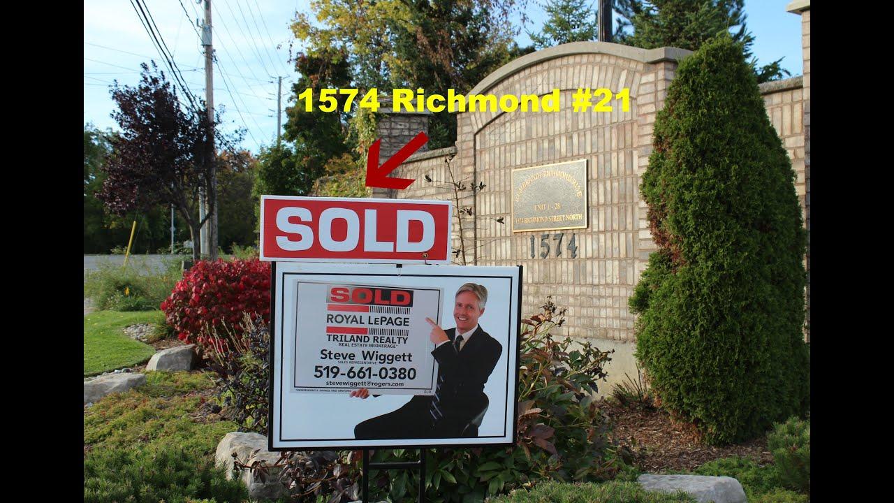 sold london ontario real estate 1574 richmond street 21 youtube