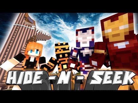 I AM REAL SUPERHERO! | Minecraft Mini-Game IRON MAN HIDE N SEEK /w Facecam!