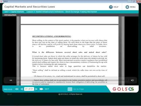 STOCK MARKET TRADING MECHANISM-CH3/ CAPITAL MARKET AND SECURITIES LAW/CSEXECUTIVE