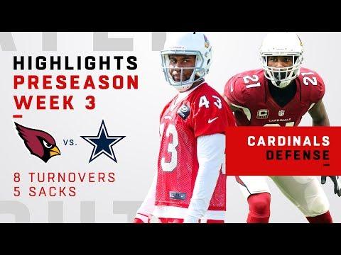 Cardinals Defense Racks Up 8 Turnovers & 5 Sacks vs. Cowboys