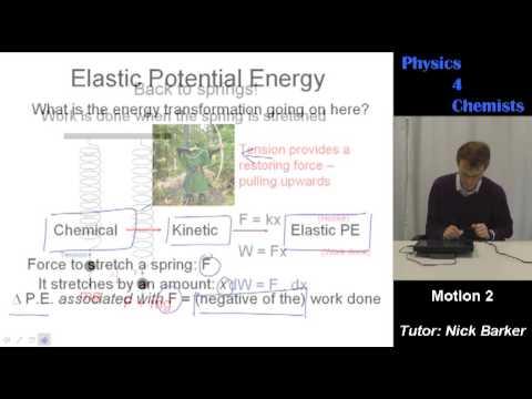 Physics 4 Chemists: Motion part 2