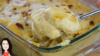 Vegan Alfredo Potato Bake - NO OIL RECIPE!