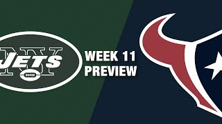 Jets vs. Texans Preview (Week 11) | NFL