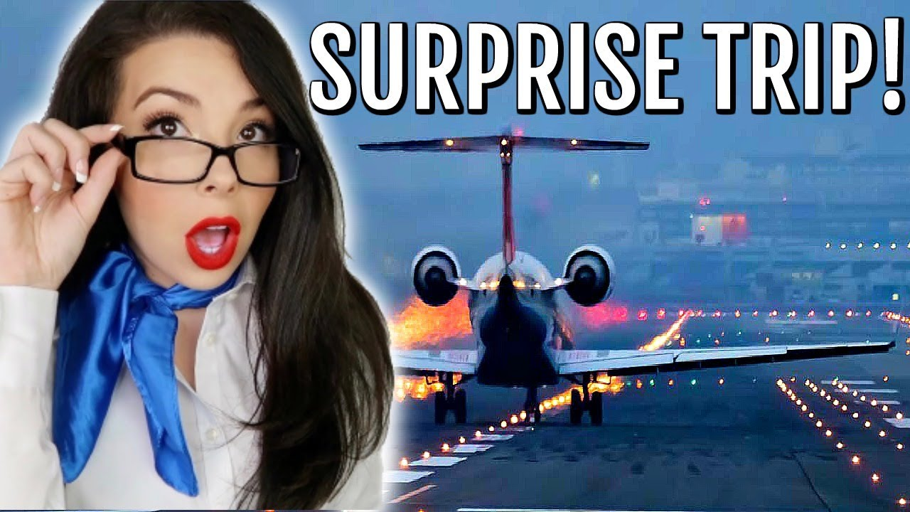 Flight Attendant Life | Surprise Trip Vlog + 100K BIG GIVEWAY!