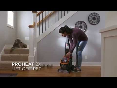 ProHeat 2X® Lift Off® Pet Upright Carpet Cleaner   YouTube