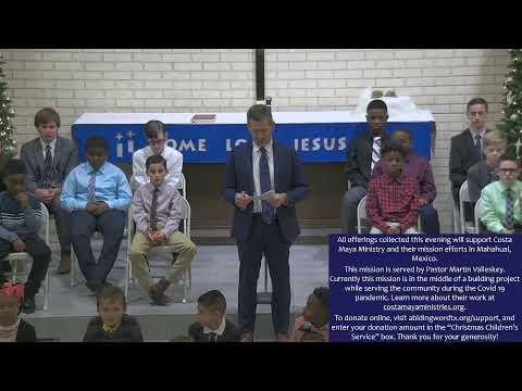Abiding Word Lutheran School 2020 Christmas Program- Light in the Darkness