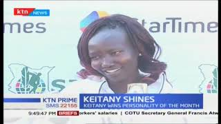 Keitany wins personality of the month, she won the New York Marathon