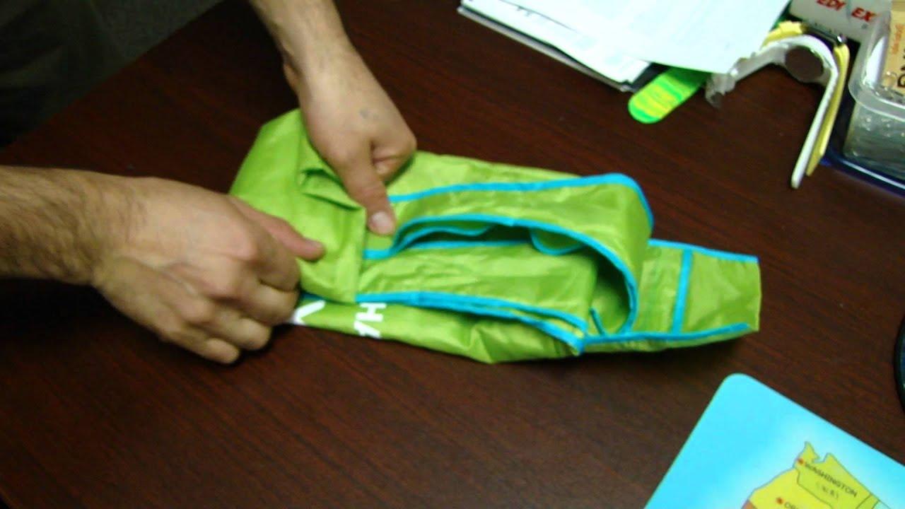 fold a reusable shopping bag youtube