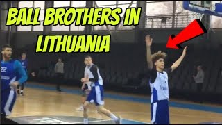 Lamelo Ball, LiAngelo Ball At Their FIRST Practice With Their NEW Team In Lithuania - Ball Brothers