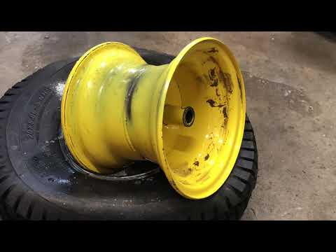 How To Change The Tire On A John Deere L110 Lawn Tractor