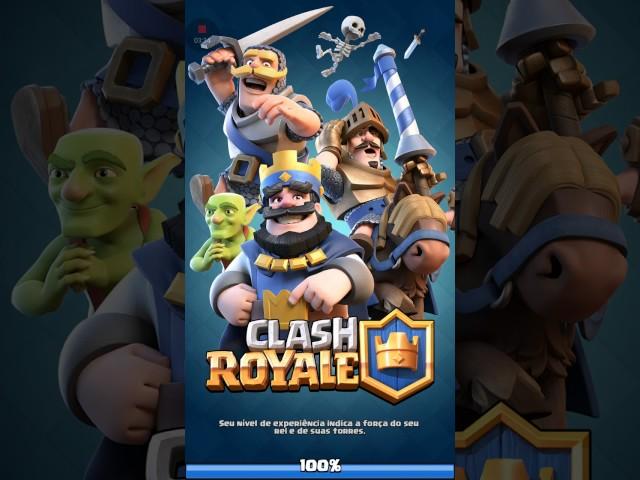 Jogando  clash royale