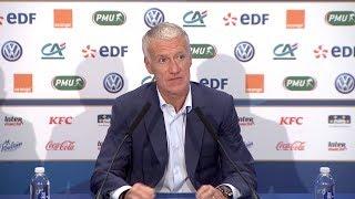 L'annonce de liste et la conférence de presse de Didier Deschamps en replay I FFF 2018-2019
