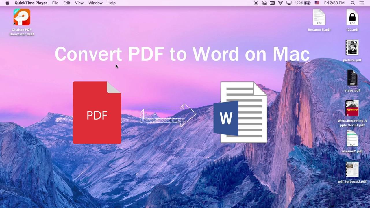 convert pdf to word using ocr