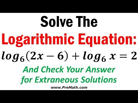 How to Solve Logarithmic Equations Involving Same Bases - Simple Explanation