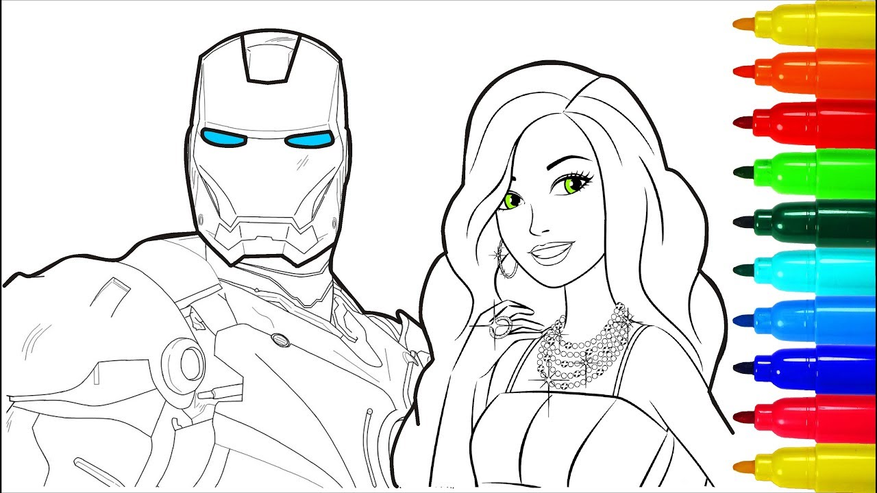 Iron Man Barbie Coloring Pages Colouring Pages For Kids With