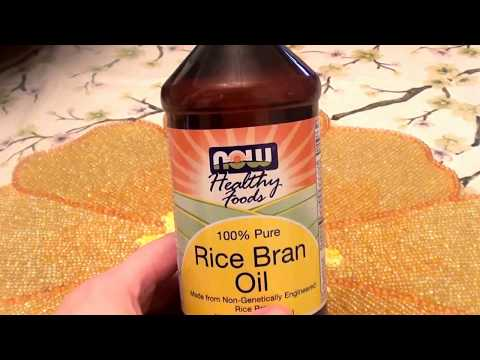 NOW FOODS 100% Pure Rice Bran Oil Non GMO... Anti Aging Skin Care/Hair Care