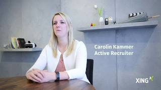 Active Recruiting bei XING: Carolin Kammer