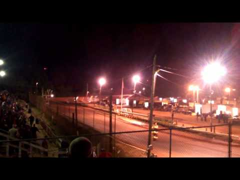 Sumter Speedway Sprint Cars Crash w/slow motion