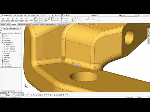 SOLIDWORKS Surfacing - Fixing Fillets Using Surfaces