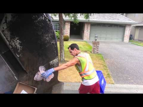 Surrey's Strongest Part 3: David Manual Single Stream Recycling Collection Action On A Rearloader