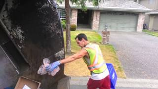 Surrey's Strongest Part 3: David Manual Single Stream Recycling Collection Action on a Rearloader thumbnail
