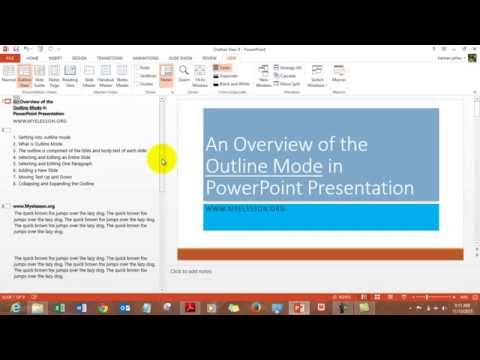Using Outline View in MS Powerpoint