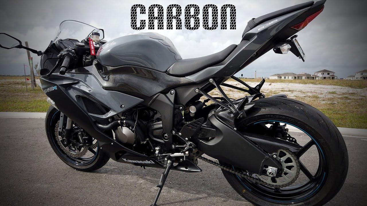 Kawasaki ZX6R Heel Guard Carbon Fiber Look