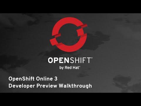 OpenShift Online 3 Developer Preview Walkthrough