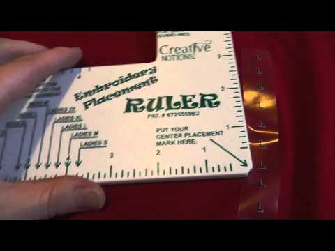 picture about Printable Embroidery Placement Ruler referred to as Embroiderers Mate - YouTube