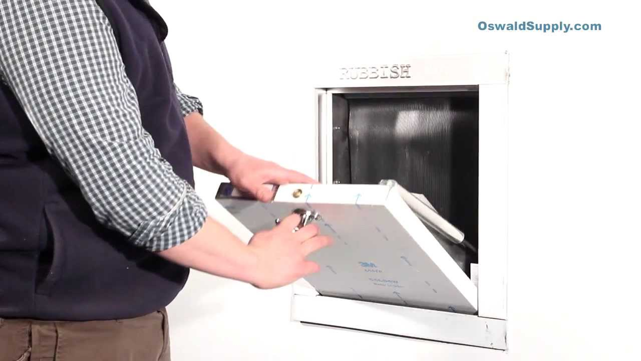 How to Install a Trash Chute Door