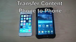 How to Transfer Content And Contacts From IPhone 4,5,6 To Galaxy S5 Wirelessly