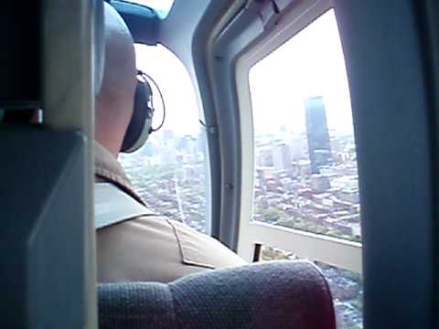 A helicopter ride over Boston & MIT