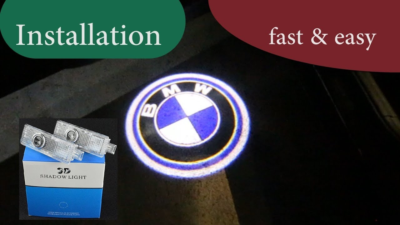 ★★ How to Install Door LED Laser Emblem Shadow 3D Lights BMW - Projector  Logo Lights -