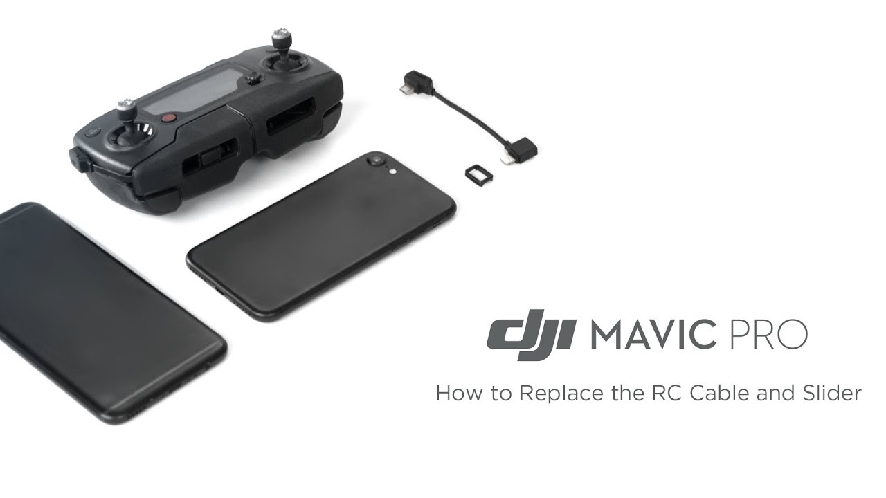 dc37caa4b8b How to Replace the RC Cable and Slider for DJI Mavic Pro - YouTube