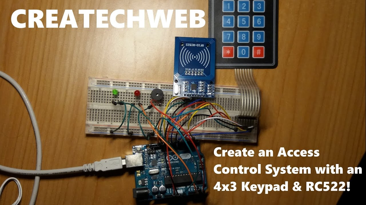 Create an Access Control System With an 4x3 Keypad & RFID