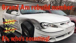 2002 Pontiac Grand am GT rebuild part 1:  Making it drivable.