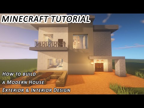 How to Build a Modern House in Minecraft: Exterior & Interior Design Tutorial #2